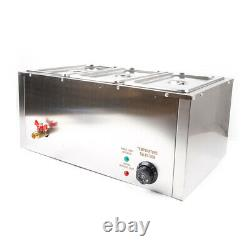 Commercial Electric Food Warmer Buffet Steam Table Stainless Steel 3 Pan 850W