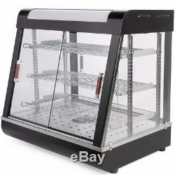 Commercial Food 27 Warmer Court Heat Food pizza Display Warmer Cabinet Glass US