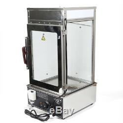 Commercial Food Steamer Machine Electric Bun Steam Cooking Warmer Rack 1.2KW NEW