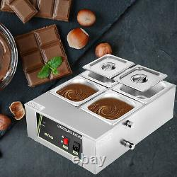 Commercial Food Warmer Bain Marie Steam Table Countertop Melter Maker With4 Pot