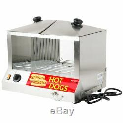 Commercial Hot Dog Steamer Warmer Cooker Machine Bun Food Electric Countertop