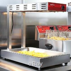 Commercial Infrared French Fry Food Warmer Fryer Dump Station Heat Lamp