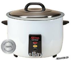 Commercial Rice Cooker 60 Cup White Electric Food Steamer Warmer Large NonStick