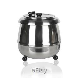 Commercial Soup Warmer Kettle Food Server Pot Cooking Heating Heating Boiler 10L