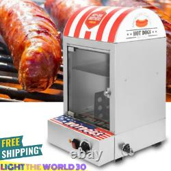 Commercial Stainless Electric Hot Dog Roller Food Steamer Bun Warmer BEST SELL