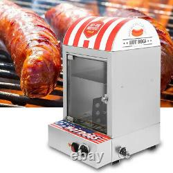 Commercial Stainless Steel Electric Hot Dog Roller Food Steamer Bun Warmer NEW