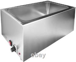 Commercial Stainless Steel Electrical Bain Marie Buffet Food Warmer Steam Table