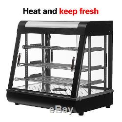 Commerical Food Court Restaurant Heat Food Pizza Display Warmer Cabinet Glass