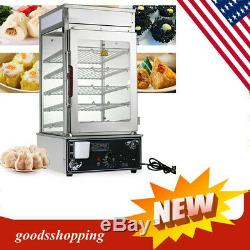 Commerical Steamer Electric Food Display Automatic Warmer Cooker Kitchen 1.2KW