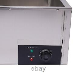 Countertop Food Warmer Buffet Electric Food Holding Case Stainless 6-Pan Steamer