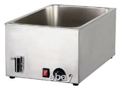 Economy 1/1 Gastronorm Size Electric Wet Heat Bain Marie Food Warmer with tap