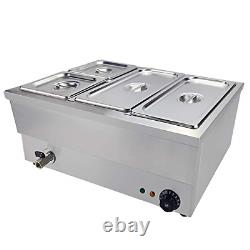Electric Bain Marie Food Warmer Stainless Steel Buffet Food Warmer Steam Table