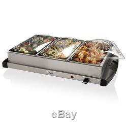 Electric Buffet Server Countertop Kitchen Cater Appliance Hot Food Dishes Warmer