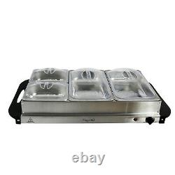Electric Chafing Dish Aluminum Buffet Server Catering Chafer Food Warmer Trays