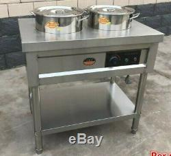 Electric Commercial Tamales Soup Warmer 2 Kettle Stainless Steel Food Warmer
