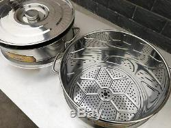 Electric Commercial Tamales Soup Warmer 3 Kettle Stainless Steel Food Warmer
