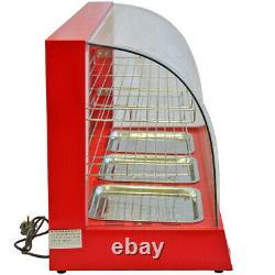 Electric Food Warmer Showcase Display Cabinet Countertop Hot Pie Pasty Chicken