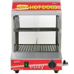 Electric Hot Dog Steamer Warmer 175 Dogs 40 Buns Commercial Machine Bun Food NEW