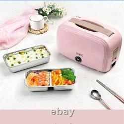 Electric Lunch Box 2 in1 Portable Bento Food Warmer Container for Car Office