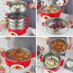 Electric Steamer Food Warmer 304 Stainless Steel Instant Pot Slow Kitchen Cooker