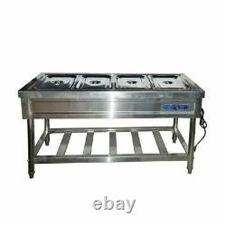Enhanced Buffet Food Warmer 4-Pans 110V Electro-thermal Food Warmer with Stand