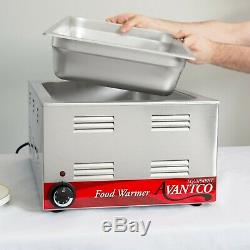 FULL SIZE Electric WITH 4 PAN & LID Countertop Buffet Food Warmer Commercial