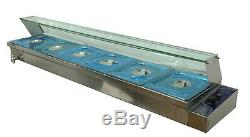 Food Insulation Equipment6-Well Commercial Bain-Marie Buffet Food Warmer 190223