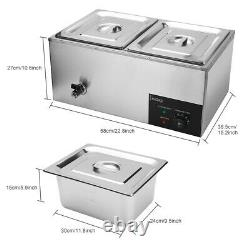 Food Warmer 2/3 Cells Commercial Electric Food Warmer Countertop Cooking 600W