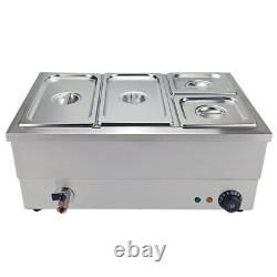 Food Warmer Bain Marie Commercial Wet Well Heat Electric Pan Catering 3/4/6 Pots