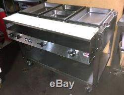 Food Warmer, Electric, 3 Compartment, With Second Shelf On Wheels