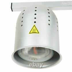 Fry WARMER with FULL PAN GRATE & 2 BULB KIT Food Heat Lamp Stand Commercial