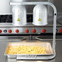 Fry WARMER with PAN GRATE & BULB KIT Food Deep Fryer Heat Lamp Stand Commercial