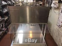 Hatco GRHW-1SG Glo-Ray Stainless Steel Food Warmer with Sign and Sneeze Guard