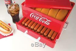 Hot Dog Steamer Cooker Food Dinner Machine Cooking Warmer 24 Buns Picinic Red