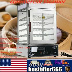 Hot Dog Steamer Warmer Machine Food Bun Commercial Electric Countertop Cooker US