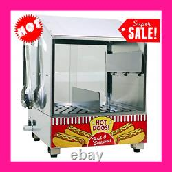 Hot Dog Steamer Warmer Machine With Indicator Light Food Bun Commercial Electric