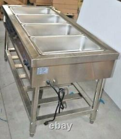 INTBUYING 4-Well Food Warmer Steam Table Countertop Kitchen Supply 110V
