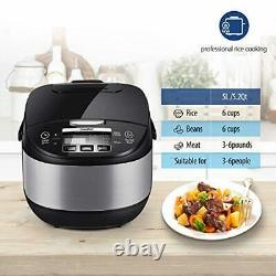 Japanese Pro 17-in-1 Multi Rice Cooker Warmer Food Steamer Stainless Steel Pot