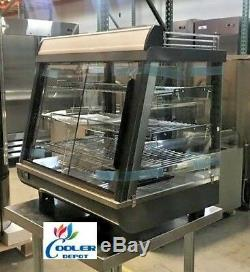 NEW 27 Commercial Dry Heated Showcase Display Hot Food Snack Pizza Warmer NSF