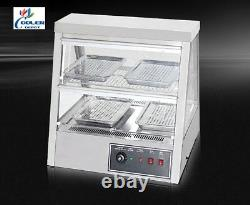 NEW 28 Dry Warmer Display Case Food Snack Pizza Pastry Model H4 Stainless Steel