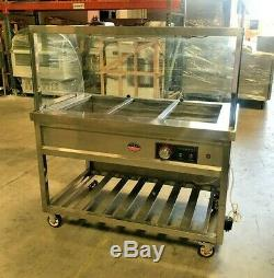 NEW 48 Warmer Steam Table Buffet Car Warm Food Server 6 Compartment Model C6
