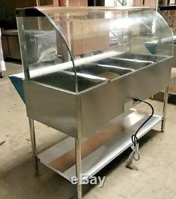 NEW 57 Commercial Dry Heat Food Warmer Open Well Buffet 4 Compartment Table NSF
