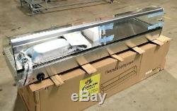 NEW 58 Dry Warmer 8 Pan Curved Display Case Bakery Deli Hot Food Showcase