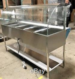 NEW 71 Commercial Dry Heat Food Warmer Open Well Buffet 5 Compartment Table NSF