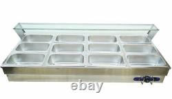 Newest Listing 12-Well Commercial Bain-Marie Buffet Food Warmer System US 110V