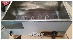 Open Box 3 Pan Chocolate Melter Baking Machine Food Warmer Chocolate Melting Pot