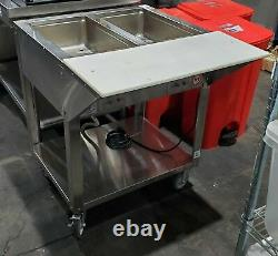 Piper Products Db-2-hf 2 Pan Steam Table Food Warmer Buffet Table Electric