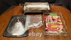 Poole Silver Co. #170 Electric Food Warmer with Lid & Cord Silverplate Floral
