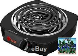 Single Electric Burner Portable Hot Plate Dorm Travel Cook Stove Countertop Home