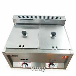 Stainless Electric Commercial Food Warmer 2x 6L Gas Pan Heating Pool
